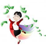 Fiona with money!